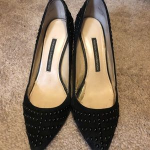 French Connection Black Stiletto Beaded Heels Sz39